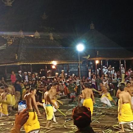 Tradisi perang papah Desa Pengotan