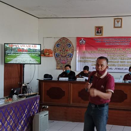 Musdes Desa Pengotan kecamatan Bangli Kabupaten Bangli