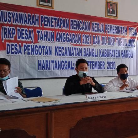 Musyawarah Penetapan Rencana kerja Pemerintahan Desa Pengotan