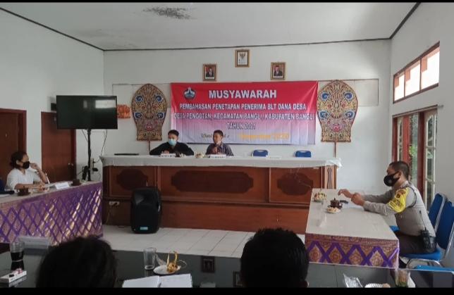 Penetapan Penerima BLT Dana Desa Pengotan kec. Bangli
