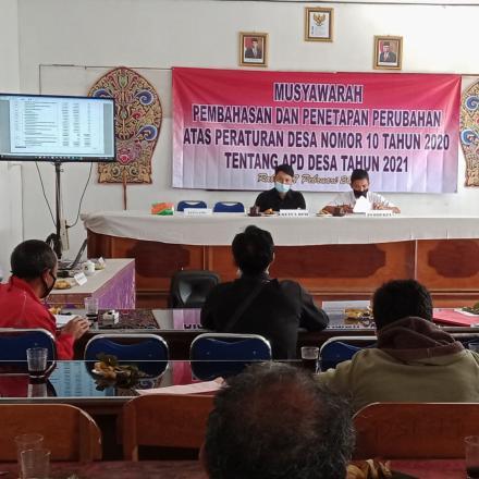 Musyawarah Perubahan dan Penetapan APD Desa 2021