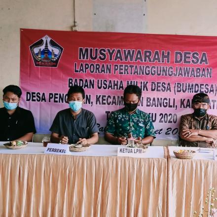 Musyawarah Laporan Pertanggungjawaban BUMDESA Pengotan kec. Bangli