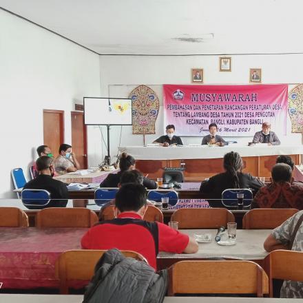 Musyawarah pembahasan dan penetapan peraturan tentang lambang Desa Pengotan