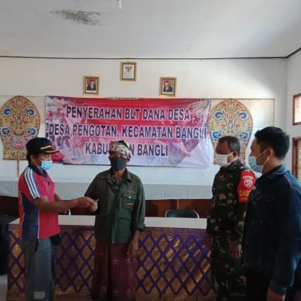 BLT Dana Desa Tahap V Desa Pengotan kec. Bangli Kab Bangli